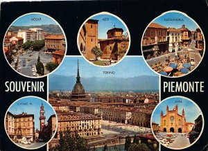 Italy Souvenir Piemonte Acqui Asti Torino Alessandria Alba Postcard