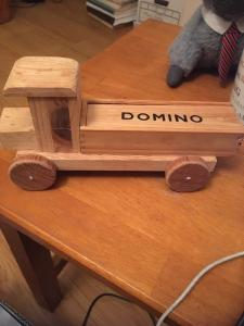 Folk Art Primitive Wood Truck /Domino Case Made by CARL KOROKNAY Camarillo CA