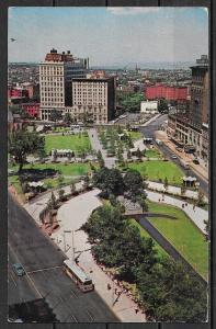 1962 New Jersey, Newark, Military Park, mailed to Czechoslovakia