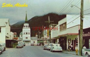 SITKA, AK. MAIN STREET TOWARD ST. MICHAEL CATHEDRAL photo by Emil Muench