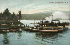 Sunapee Lake NH Steamer Ships at Landing Used 1908 Postcard