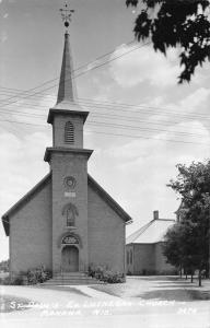 Manawa Wisconsin St Paul's Ev Lutheran Church Real Photo Antique Postcard J79282