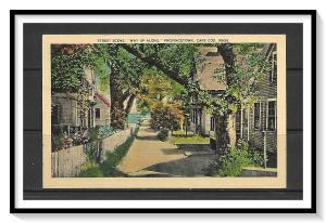 Massachusetts, Cape Cod - Street Scene - Way Up Along