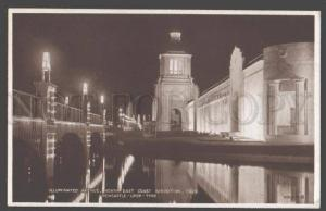 098682 UK Exhibition 1929 Newcastle-on-Tyne Illuminated avenue