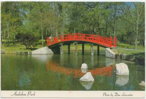 Japanese Garden Section, Audubon Park ,Memphis, Tennessee, 1987 used Postcard