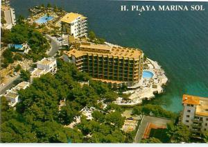 Vintage Postcard Greeting Hotel Playa Marina Sol Malaysia  # 1562