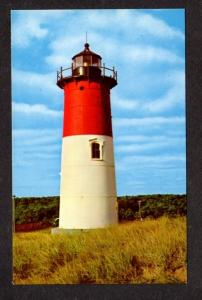 MA Nauset Lighthouse Light EASTHAM MASS Massachusetts Postcard Cape Cod PC