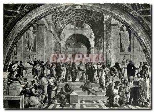 Postcard Modern Citta del Vaticano The school of Athens (Raphael)