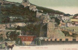 GIBRALTAR , 1900-1910s; Land Port Gate