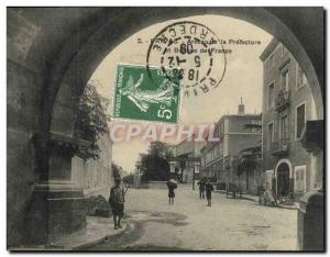 Old Postcard Bank Privas hoop prefecture and Bank of France