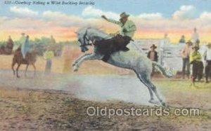 Bucking Broncho Western Cowboy Unused creases right top corner, Unused