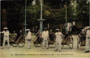 CPA MARSEILLE - EXPO Coloniale 1922 - En Pousse-Pousse (988308)