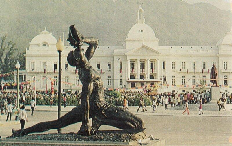HAITI, 1940-60s; Negre Maron Statue, National Palace