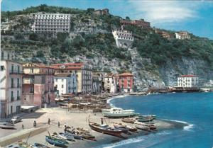 Marina Grande and Hotels, Fishing Boats, SORRENTO, Campania, Italy, 50-70's