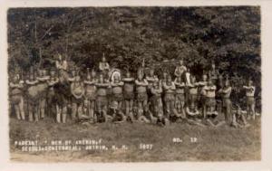 Men of Antrim, Sesqui-Centennial, Antrim, New Hampshire, USA 1927 Indian, Ind...