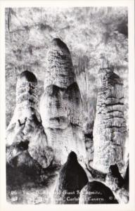 New Mexico Carlsbad Cavern Twin Dome and Giant Stalagmite Big Room Real Photo