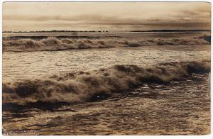 1917-1930 RPPC USA Breaking Waves Sea Ocean Surf Armstrong Real Photo Postcard