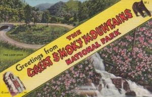 Greetings From The Great Smoky Mountains National Park Large Letter Lionen Cu...