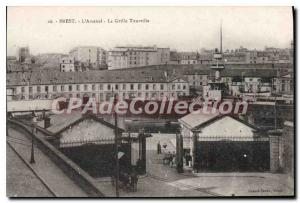 Postcard Old Brest Arsenal The Grid Tourville