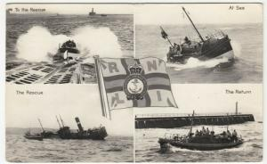 RNLI Lifeboats Multiview RP PPC 1968 PMK, Ship Sinking, To Mrs Reffell, Swanley