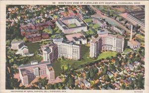 Ohio Cleveland Birds Eye View Of Cleveland City Hospital Curteich