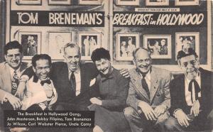 Tom Breneman's Breakfast in Hollywood, California, Early Postcard, Unused