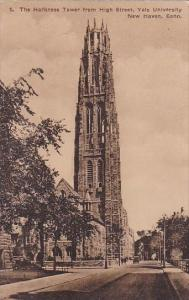 Connecticut New Haven The Harkness Tower From High Street Yale Unviersity