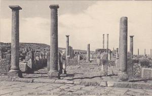 Tunisia Ruines Romaines de Timgad Entree de la Maison de Sertius