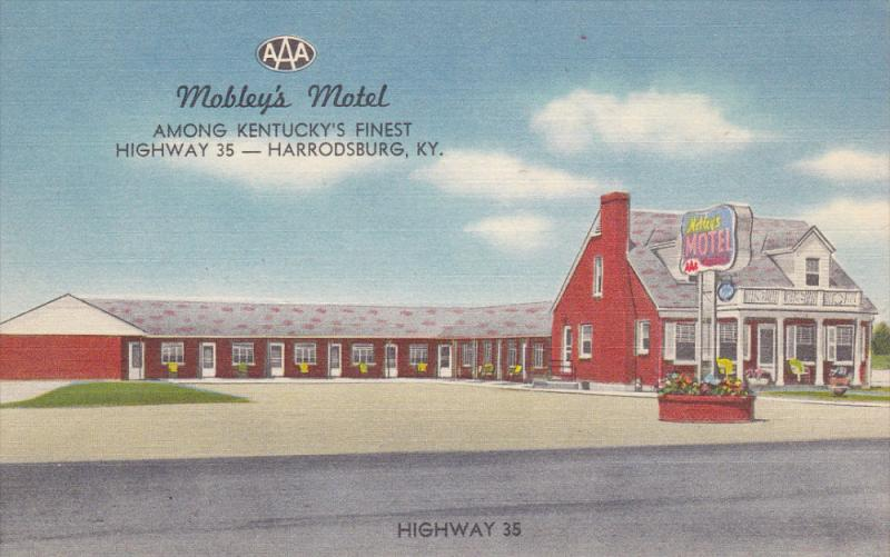 Mobley's Motel , HARRODSBURG , Kentucky , 30-40s