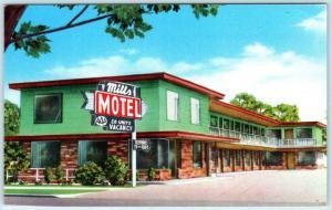 EUGENE, Oregon  OR   Roadside  MILLS MOTEL  ca 1960s Highway 99 Postcard