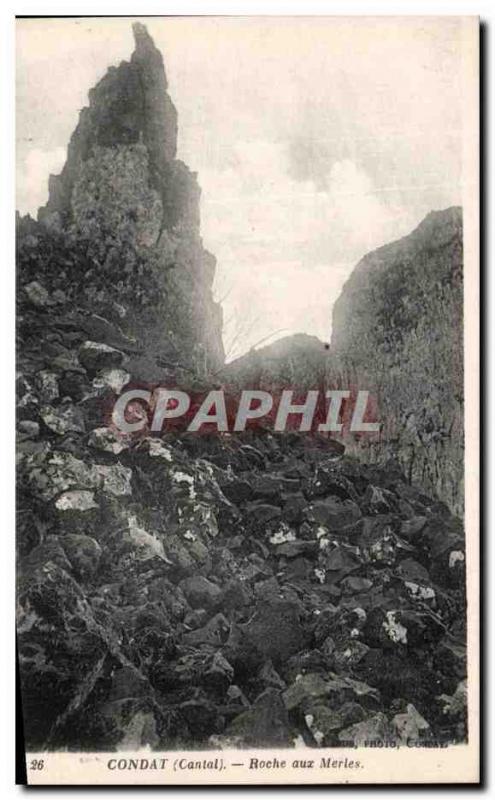 Postcard Old Condat Roche aux Merles