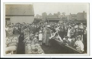 Judges & Crowd At Local Fete & Produce Competition PPC, Unknown Location 1918