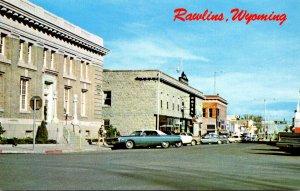 Wyoming Rawlins Main Street Scene