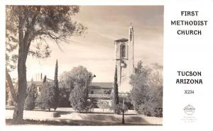 Tucson Arizona view of First Methodist Church Frasher real photo pc Y12240