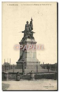 Old Postcard Courbevoie The Monument of Defense of Paris 1870 1871 Militaria