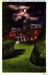 Tennessee Milligan College Hardin Hall Moonlight Scene