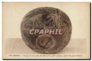 Postcard Old Pro Alesia Cup earthenware manufacturing workshop Gallo-Roman po...