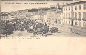 Lisbon Portugal Large Calvary Horse Carriages Artillery Antique Postcard K9838