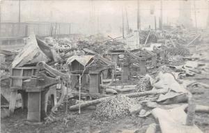 E12/ Ravenna Ohio Photo RPPC Postcard 1910 Fire Disaster Factory Occupational