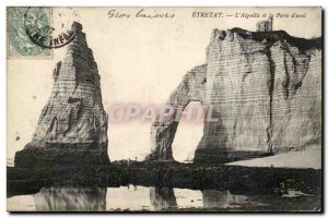 Etretat Old Postcard L & # 39aiguille and door & # 39aval