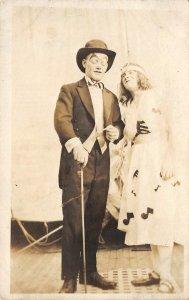 Drag Vaudeville? Cross-Dressing Gay Interest RPPC c1920s Vintage Postcard