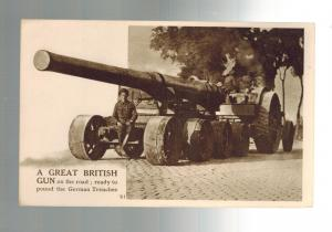 Mint WW 1 British Army Giant Artillery Cannon Ready to Pound German Trenches