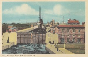 SAULT STE. MARIE , Ontario, Canada, 1930s ; Canal Locks
