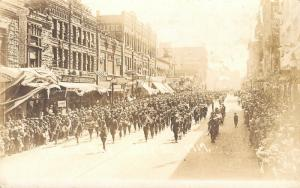 Sioux Falls SD~Phillips Ave WWI Service Day Parade~Band~Fosdick Sons~1919 RPPC