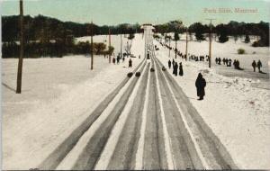 Park Slide Montreal QC Quebec Sled c1910 Postcard D86