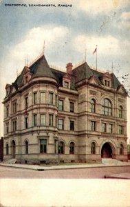 Kansas Leavenworth Post Office 1908