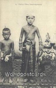 Cambodia, Cambodge Petites Filles Cambodgiennes  Petites Filles Cambodgiennes