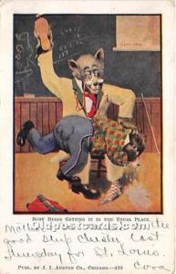 Bear Postcard Getting it in the Usual Place 1907
