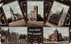 Boone Iowa~Mini Multi Vw Churches~Baptist~Presbyterian~Swedish~Art Nouveau 1911