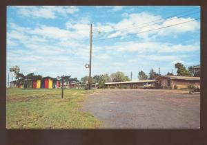 JEFFERSON TEXAS SHERRY INN MOTEL RESTAURANT VINTAGE ADVERTISING POSTCARD